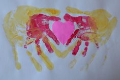 Fun Toddler Activities: Double Handprint Heart for Valentine's Day!