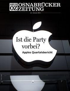 Aufmacher unserer aktuellen iPad-Ausgabe (24. Januar 2013): Die Quartalszahlen von Apple. Mehr zum Thema: www.noz.de/69135695 | www.noz.de/digitalabo