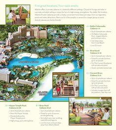 Private Cabanas in Pools   Bahamas Aquaventure Waterpark   Atlantis, Paradise…