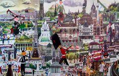 sasek edimbourg london paris art deco creative leisure Paris Art, Times Square, Art Deco, London, Chilling, Canvas, Creative, Illustration, Painting