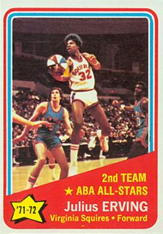 julius erving basketball cards | 1972 Topps Julius Erving #255 Basketball Card