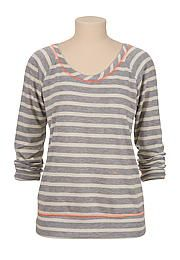 Striped contrast stitch pullover - maurices.com