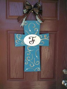 Cross I made for my front door!