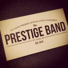 St. Louis Wedding Band! Book today! #prestigeband