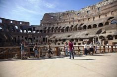 Tour Colosseum hour walking tour inside and underneath. Ancient Rome and Colosseum Tour: Underground Chambers, Arena and Upper Tier Rome Travel, Travel Tours, Italy Travel, Italy Map, Rome Italy, Palatine Hill, Underground Tour, Roman History, Art History