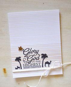 Simply Stamped: Nativity Inspiration + Treetops Glisten