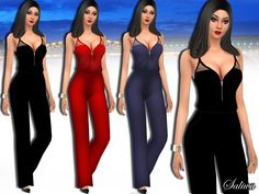 Mesh Jumpsuit design by Saliwa.  Found in TSR Category 'Sims 4 Female Everyday'