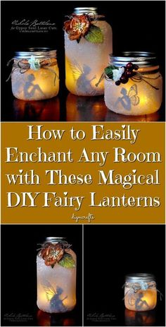 How to Easily Enchant Any Room with These Magical DIY Fairy Lanterns {Easy Tutorial} My daughter's birthday is coming up, and I was trying to think of something really cool that I could make her as a special gift. She's really into fantasy stuff like fairies and unicorns, so I was looking for a fantasy-themed art project that would look cool in her room. I ended up finding the perfect project for creating stunning DIY fairy lanterns. I can't wait to make one of these for her. #diy #cute #decor