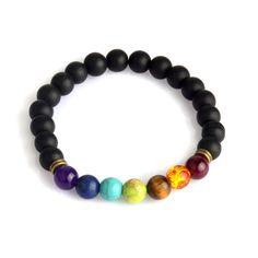 Multicolor Tiger Eye amethyst Black Resin Lava Beads Chakra Bracelets Wristband Bangles bijoux Rope Chain Women Men Jewelry