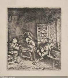 Adriaen van Ostade: Backgammon game.