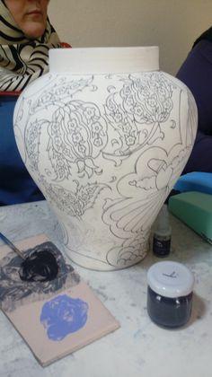 Creta, Kaftan, Vases, Sketch, Paintings, Home Decor, Porcelain Ceramics, Fish, Sketch Drawing