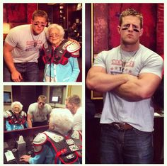 Love JJ Watt and Mrs. Barbara Bush!