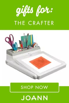 Give your favorite crafter a gift they're sure to enjoy! Check out this list of Gifts for Crafters from JOANN for wonderful ideas like the Organizing Essentials Organizer Cart, Wooden Ribbon Ladder, and Led Light Box. Holiday Gift Guide, Holiday Gifts, Craft Kits, Craft Supplies, Led Light Box, Gifts For Him, Inventions, Ladder, Organizing