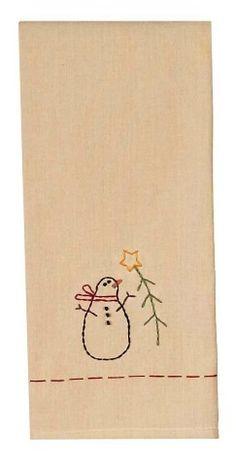 "My Feather Tree Snowman Christmas Kitchen Towel 18"" x 28"""