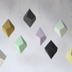 DIY Paper Polyhedra Ornaments Kit // just in time for Christmas <3