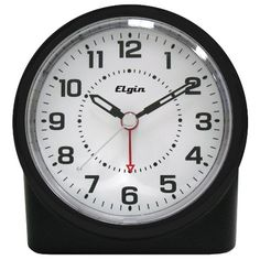 Equity by La Crosse Analog Alarm Table Clock with Night Vision Technology - JCPenney Analog Alarm Clock, Travel Alarm Clock, Alarm Clocks, Best Kids Watches, Cool Watches, La Crosse Technology, Clocks For Sale, Black Quartz, Large Clock