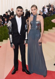 Zayn Malik and Gigi Hadid totally embraced the theme of the Met Gala in their cyborg-inspired outfits.