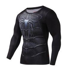 2016New Mode Fitness Compression Chemise Hommes Cosplay Mâle Crossfit Plus Taille Bodybuilding Hommes t-shirt 3D Imprimé Superman Top