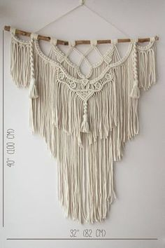 This large macrame wall hanging was made with 5 mm natural cotton cord. This is especially convinient for living room, bedroom or nurcery. This piece will look great in different modern interior's concepts: boho, scandinavian, rustic, loft, contemporary and others. I hope this bohemian wall