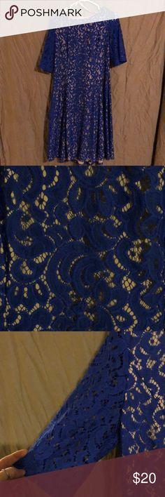 Blue lace dress Blue lace dress worn once. Jessica Howard Dresses Midi