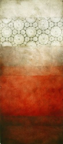 """Mukhtas, 2010 ... graphite, oil on prepared paper, 13"""" x 30""""    http://luisasartori.com/artwork/go-to-circles-triangles-and-then-images/view/108"""