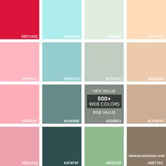 500+Web Colors | Vale Design