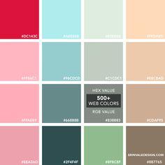 500+Web Colors | Vale Design