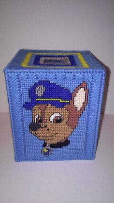 Puppy Power Tissue Box Cover Plastic Canvas by MaidenLongIsland