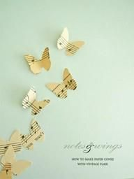 DIY wall decor for piano room!:) finally know what to do with it when it gets redone!