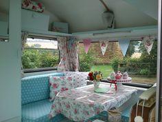 Kath Kidston fabric in vintage Camper