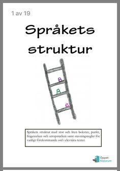 Språkets struktur Bra Hacks, Autism, Language, Printables, Teaching, Writing, Education, Math, Kids