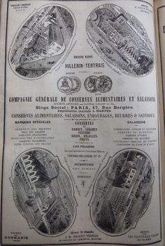 Paris. Publicité Compagnie de conserves alimentaires et salaisons. 1882.
