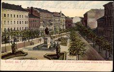 Ansichtskarte / Postkarte Rixdorf, Neukölln, Berlin, Hohenzollern Platz mit Denkmal, 1906