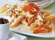 Creamy Tomato Sauce Over Pasta with Smoked Salmon