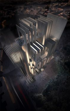 Global Architects and Bloot Architecture, 3rd place entry, Rome International Architectural Competition