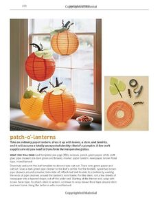 Martha Stewart's Handmade Holiday Crafts: 225 Inspired Projects for Year-Round Celebrations Fall Festival Decorations, Fall Classroom Decorations, Halloween Decorations, First Birthday Theme Girl, Pumpkin First Birthday, Thanksgiving Birthday, Peanuts Halloween, Holidays Halloween, Orange Lanterns