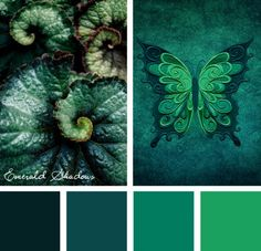 Color Inspirations – Emerald Shadows