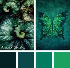 Color Inspirations – Emerald Shadows