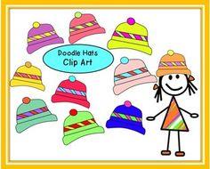 Doodle Hats Clip Art