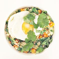 Cauliflower Fried Rice with Egg and Cilantro