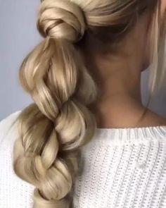Easy Hairstyles For Long Hair, Loose Braid Hairstyles, Updo Hairstyle, Everyday Hairstyles, Latest Hairstyles, Prom Hairstyles, Running Late Hairstyles, Ponytail Hairstyles Tutorial, Fine Hairstyles