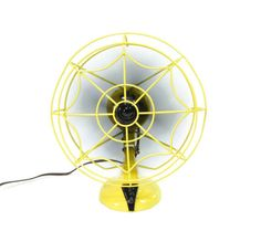 Vintage Electric Fan Yellow and Black by ohiopicker on Etsy, $168.00