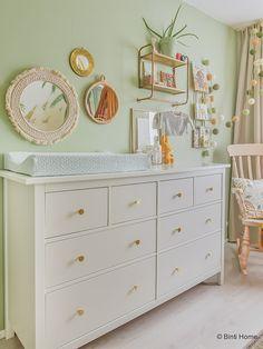 Babykamer inspiratie van Souraya van Binti Home, Baby Bedroom, Baby Boy Rooms, Baby Room Decor, Apartment Nursery, Nursery Room, Kids Room Design, Girl Room, Room Inspiration, Home Decor