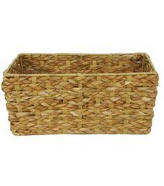 Organizing Essentials Rush Basket Rectangle, 13.5'x8.25'' W x 6.25'' H