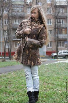 Brown felt coat