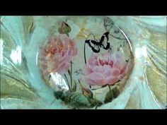 Viveca's Decoupage on Glass - YouTube