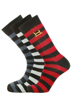 Men's 3 Pair Pack of Help for Heroes Embroidery Dress Socks - http://www.socksupermarket.com/shop-by-brands/help-for-heroes/mens-3pp-embroidery-striped-dress-socks.html