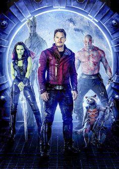 Guardians of The Galaxy Textless keyart  Movie Poster  V19 24 x 36 #Handmade #PopArt