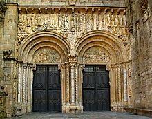 Fachada das Praterías da Catedral de Santiago de Compostela