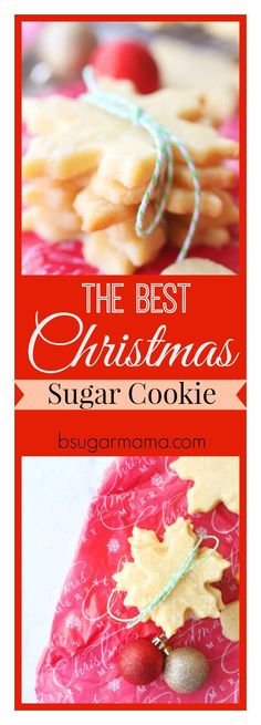 This is the Best Christmas Sugar Cookie Recipe you will find! These cookies are buttery and chewy and perfect for cookie cutouts and decorating!